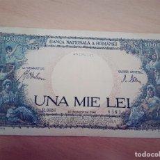 Billetes extranjeros: RUMANIA ROMANIA 1000 LEI 1941 . Lote 116526643