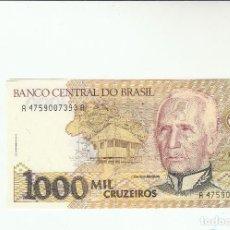Billetes extranjeros: BRASIL- 1000 CRUZEIROS-SC. Lote 116641607