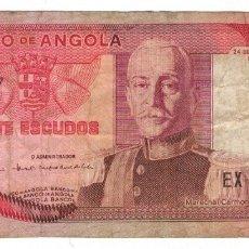 Billetes extranjeros: ANGOLA - 20 ESCUDOS - 1972. Lote 193267301