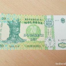 Billetes extranjeros: MOLDAVIA MOLDOVA 20 LEI 2013 S/C. Lote 116817207