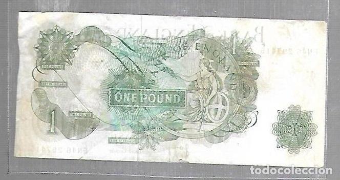 Billetes extranjeros: BILLETE. BANCO DE INGLATERRA. BANK OF ENGLAND. 1 LIBRA. 1 POUNDS. VER - Foto 2 - 116902339