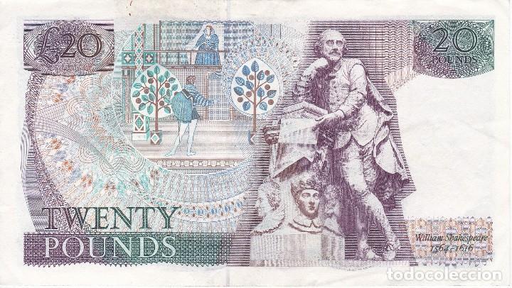 Billetes extranjeros: BILLETE DE REINO UNIDO DE 20 POUNDS DEL AÑO 1975 EN BUENA CALIDAD - Foto 2 - 117020267