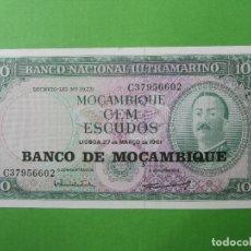 Billets internationaux: BANCO NACIONAL ULTRAMARINO , 100 ESCUDOS MOZAMBIQUE , MOÇAMBIQUE , 1961. Lote 117295859