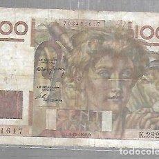 Billetes extranjeros: BILLETE. BANCO DE FRANCIA. 100 FRANCOS. 1948. VER. Lote 117506291