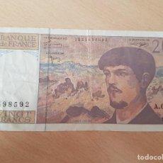 Billetes extranjeros: FRANCIA 20 FRANCS 1997 USADO. Lote 117802687