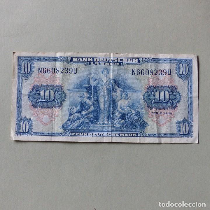 billete de 10 marcos. alemania 1949 - Comprar Billetes Extranjeros ...