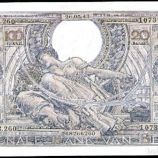 Billetes extranjeros: BELGICA - 100 FRANCOS - 20 BELGAS - 26/5/1943 - PICK 112 - S/C. Lote 118186667