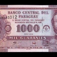 Billetes extranjeros: PARAGUAY 1000 GUARANÍES 2004 PICK 222A SC UNC. Lote 156599709