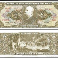 Billetes extranjeros: BRASIL - 5 CRUZEIROS - SIN FECHA (1962-1964) - S/C. Lote 118584991