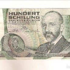 Billetes extranjeros: BILLETE DE AUSTRIA DE 100 SCHILLING (CHELINES) DE 1984. MBC. WORLD PAPER MONEY-150. (BE149). Lote 118814359