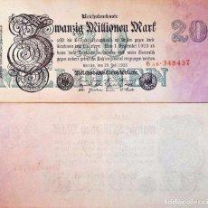 Billetes extranjeros: ALEMANIA 20 MILLIONEN MARK 1923 (MBC) 20 MILLONES MARCOS. Lote 173625092