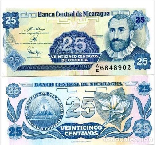 NICARAGUA 25 CENTAVOS 1991 UNC P-170
