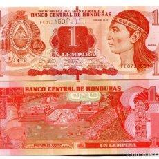 Billetes extranjeros: HONDURAS 1 LEMPIRA 2014 P-96 UNC. Lote 137782377