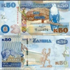 Billetes extranjeros: ZAMBIA 50 KWACHA 2012. PICK 53A. LEOPARDO. SIN CIRCULAR.. Lote 119517951