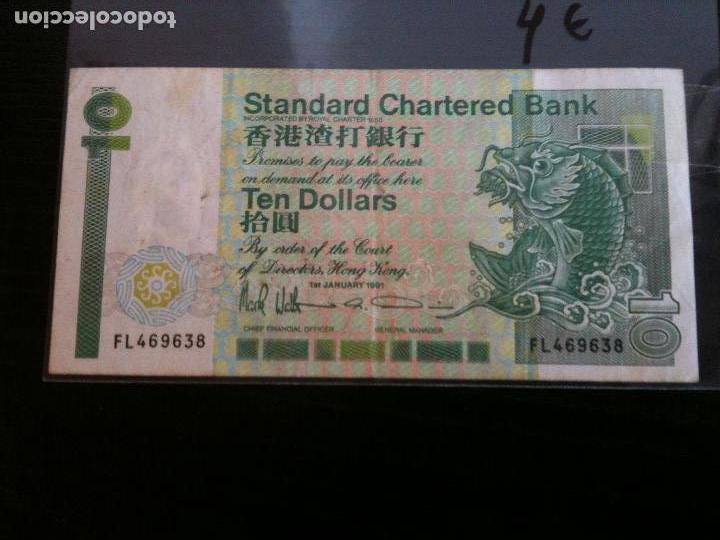 HONG KONG TEN DOLLARS (Numismática - Notafilia - Billetes Extranjeros)