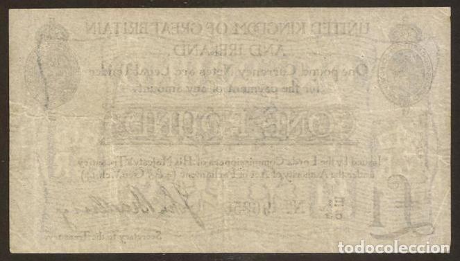 Billetes extranjeros: GRAN BRETAÑA (REINO UNIDO). 1 pound (23.10.1914). Pick 349. I G.M. - Foto 2 - 120002568