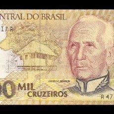 Billetes extranjeros: BRASIL 1000 CRUZEIROS 1990. PICK 231B. SC. UNC. Lote 184091130