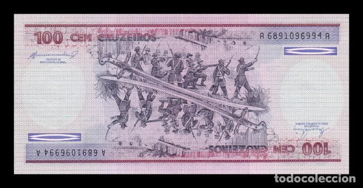 BRASIL 100 CRUZEIROS 1984. PICK 198B. SC. UNC (Numismática - Notafilia - Billetes Extranjeros)