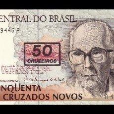 Billetes extranjeros: BRASIL 50 CRUZEIROS 1990. PICK 223. SC. UNC . Lote 120013323