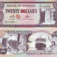 Billetes extranjeros: GUYANA 20 DOLLARS 2009 PICK 30E - S/C. Lote 121728215