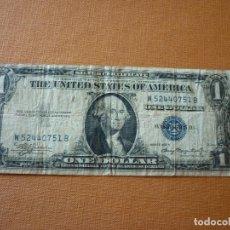 Billetes extranjeros: ESTADOS UNIDOS DE AMERICA, 1 DOLAR - SERIE 1935 A - SELLO AZUL. Lote 120152319