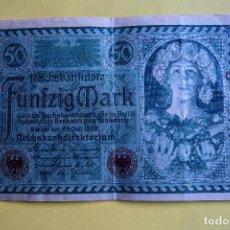 Billetes extranjeros: BILLETE 50 MARCOS ALEMANES. ALEMANIA. 1920. REICHSBANKNOTE. FÜNFZIG MARK. GERMANY. BERLÍN. VER FOTO . Lote 120275419