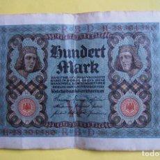 Billetes extranjeros: BILLETE 100 MARCOS ALEMANES. ALEMANIA. 1920. REICHSBANKNOTE. HUNDERT MARK. GERMANY. BERLÍN. VER FOTO. Lote 120276231