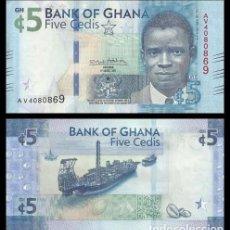 Billetes extranjeros: GHANA 5 CEDIS 2018 PICK NUEVO SC UNC. Lote 195540570
