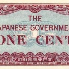 Billetes extranjeros - JAPON OCUPACION - 2ª GUERRA MUNDIAL 1943 - 1 CENT - SC.& UNC. AUTENTICOS 100% - 150833100