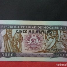Billetes extranjeros: 5000 METICAIS 1989 MOZAMBIQUE SIN CIRCULAR. Lote 120718515