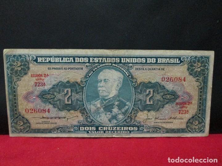 2 CRUZEIROS BRASIL AÑOS 60 (Numismática - Notafilia - Billetes Extranjeros)