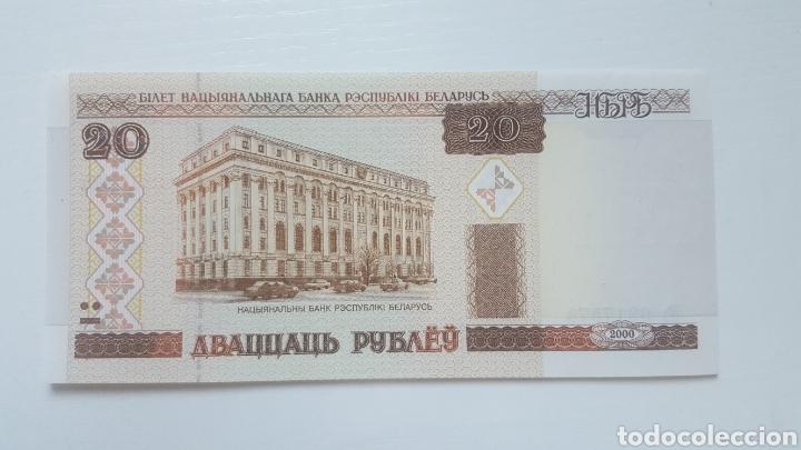 BIELORRUSIA 20 RUBLOS 2000 (SC) (Numismática - Notafilia - Billetes Extranjeros)