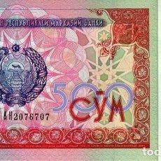 Billetes extranjeros: [CF2318] UZBEQUISTÁN 1999, 500 SOM (UNC). Lote 120840975