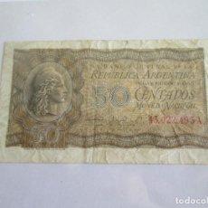 Billetes extranjeros: ARGENTINA * 50 CENTAVOS 1947. Lote 120866703