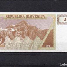 Billets internationaux: ESLOVENIA 1990, 2 TOLARJEV, P-2A, SC-UNC, 2 ESCANER. Lote 131633010