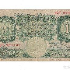 Billetes extranjeros: BILLETE DE 1 POUND (LIBRA) DE INGLATERRA DE 1948-49. MBC. WORLD PAPER MONEY-369A. (BE216). Lote 120936343