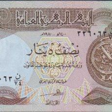 Notas Internacionais: BILLETES - IRAQ 1/2 DINAR 1985 - SERIE Nº 628022 - PICK-68 (SC). Lote 241824255