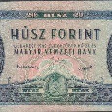 Billetes extranjeros: BILLETES - HUNGRIA - 20 FORINT 1949 - SERIE C573-022471 - PICK-165 (SC). Lote 176276755