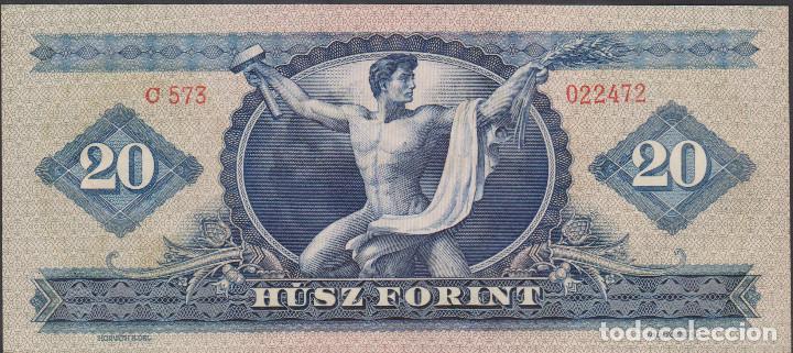 Billetes extranjeros: BILLETES - HUNGRIA - 20 FORINT 1949 - SERIE C573-022471 - PICK-165 (SC) - Foto 2 - 176276755