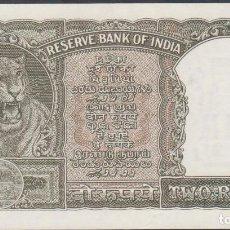 Billetes extranjeros: BILLETES - INDIA - 2 RUPIAS (1962-67) SERIE F/79-542036 - PICK-31 (SC). Lote 192140861
