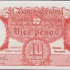 Billetes extranjeros: BILLETES - ARGENTINA - 10 PESOS (1954-63) SERIE 55.479.598 G - PICK-270C (SC). Lote 174041287