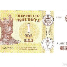 Billetes extranjeros: BILLETE DE LEU DE MOLDAVIA DE 1994. PLANCHA. WORLD PAPER MONEY-8. (BE249). Lote 121268767
