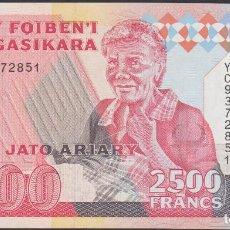 Billetes extranjeros: BILLETES - MADAGASCAR - 2500 FRANCS-500 ARIARY - (1993) - SERIE YC 9372857 - PICK-72AA (SC). Lote 221400738