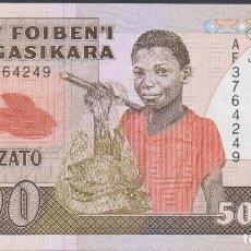 Billetes extranjeros: BILLETES - MADAGASCAR - 500 FRANCS-100 ARIARY - (1983-87) - SERIE AF3764255 - PICK-71B (SC). Lote 171836098
