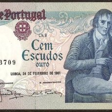 Billetes extranjeros: PORTUGAL 100 ESCUDOS PICK 178B (1981) SC. Lote 121368799