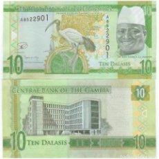 Billetes extranjeros: GAMBIA 10 GAMBIANOS ND (2015) P-32. Lote 121399039