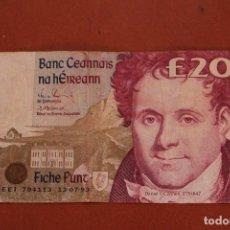 Billetes extranjeros: IRLANDA. 20 LIBRAS. Lote 121470231