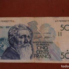 Billetes extranjeros: BELGICA. 500 FRANCOS. Lote 121470615