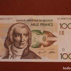 Billetes extranjeros: BELGICA. 1000 FRANCOS. Lote 121470703