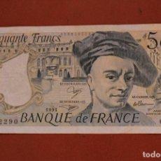 Billetes extranjeros: FRANCIA. 50 FRANCOS. Lote 121471395